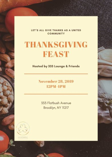 Thanksgiving on North Flatbush!! — Support 333 Lounge's Community Thanksgiving Feast